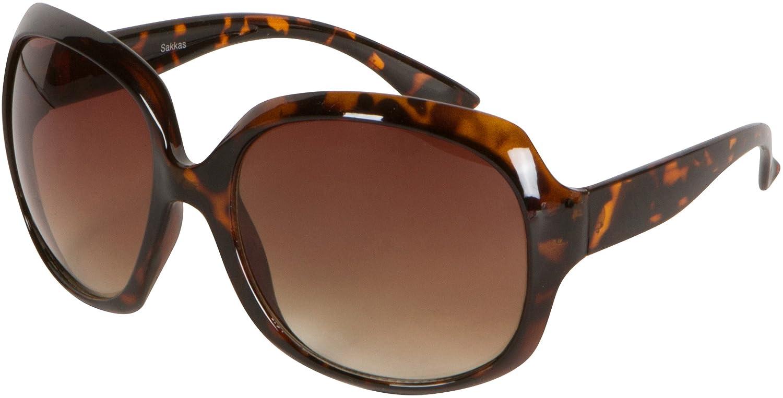 Sakkas Vintage Oversized Frame Fashion Sunglasses
