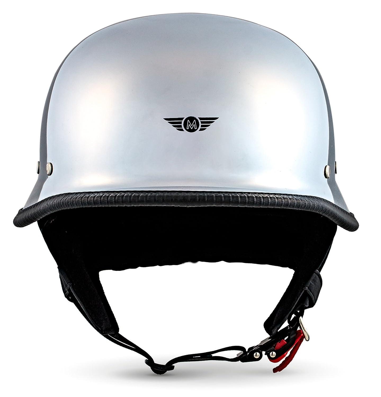 noir XXL Casque de moto casques Jet -Scooter Chopper scooter Bobber Moto D33 Ensemble en cuir noir 55 /à 64/cm