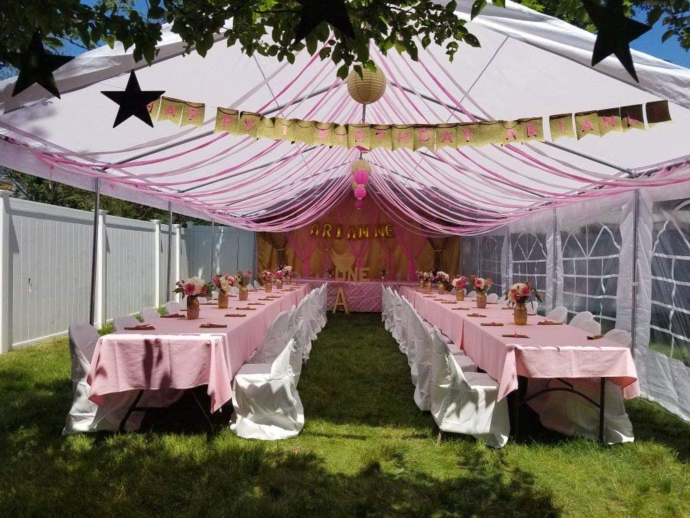 20x40, White Quictent 20 x 40 Upgraded Galvanized Heavy Duty Gazebo Party Wedding Tent Canopy Carport Shelter with Carry Bags