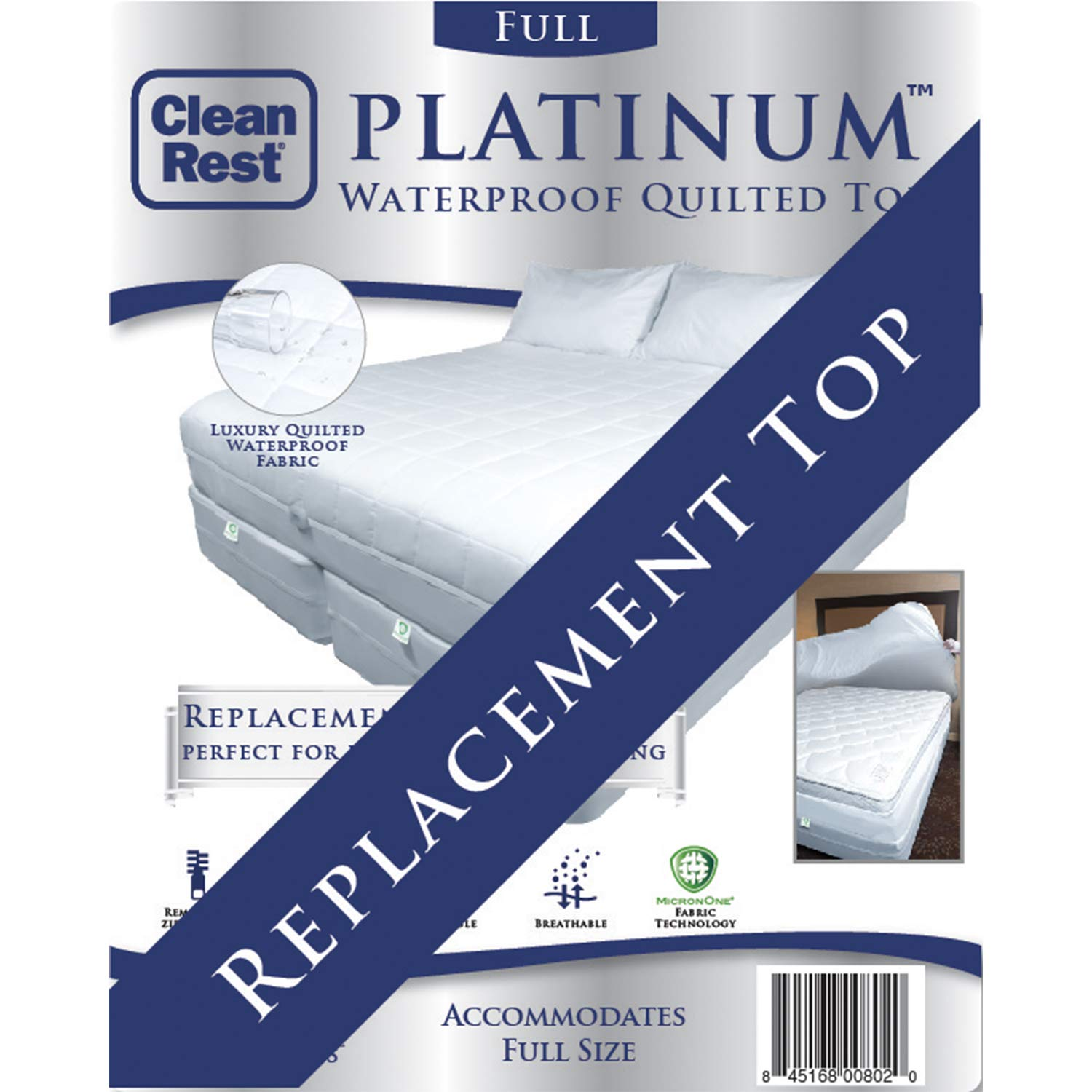 CleanRest Platinum Full Replacement Top White