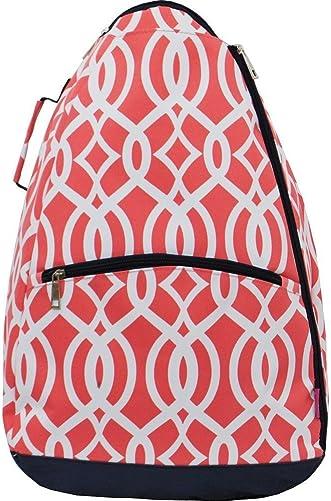 N.Gil Geometric Vine Pattern Print NGIL Tennis Racquet Holder Backpack