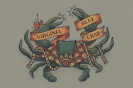 Virginia - Tatuaje de color azul: Amazon.es: Juguetes y juegos