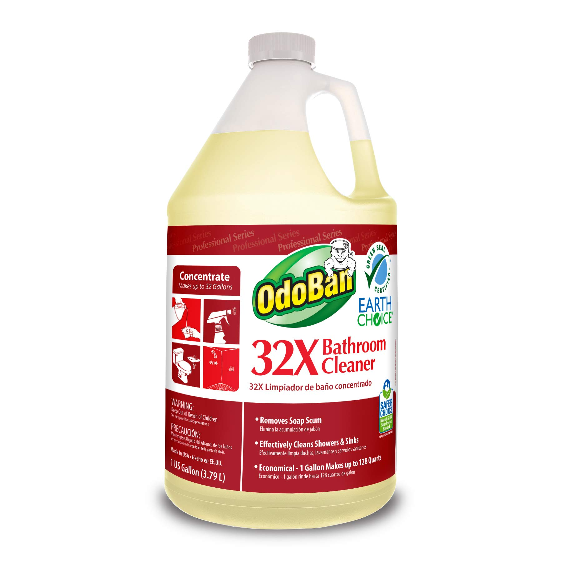 OdoBan Professional Cleaning 32X Bathroom Cleaner, 1 Gallon Concentrate by OdoBan