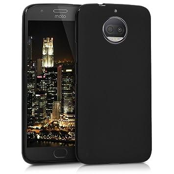 kwmobile Funda para Motorola Moto G5S Plus - Carcasa para móvil en TPU Silicona - Protector Trasero en Negro Mate