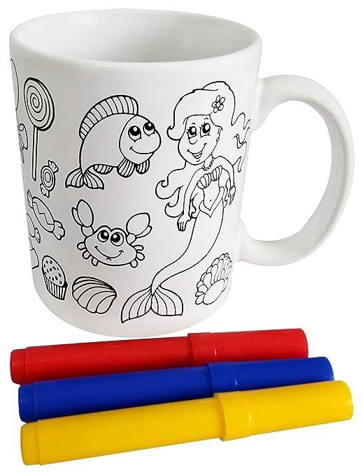 DISOK Lote 36 Tazas para Colorear Presentada en Cajita de ...