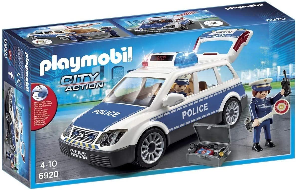 PLAYMOBIL City Action Coche de Policía con Luces y Sonido, a Partir de 5 Años (6920): Playmobil: Amazon.es: Juguetes y juegos