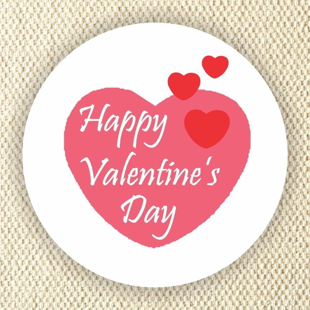 Amazon com happy valentines day favor stickers heart stickers