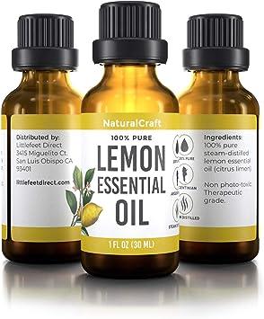 Aceite Esencial 100 Puro De Limón Para Aromaterapia Respiratoria De Estado De ánimo De Piel Destilado Al Vapor Sin Diluir Health Personal Care