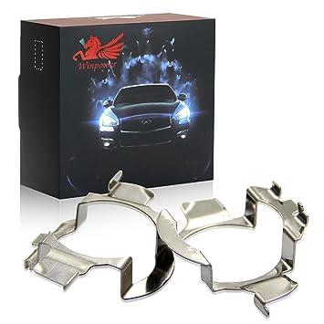 Win Power H7 Soporte para faros delanteros LED, base para bulbo de linterna con socket adaptadores, paquete de 2: Amazon.es: Coche y moto