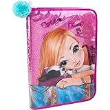 Depesche 6353 Top Model große Federtasche Friends, gefüllt, rosa