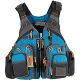 Lixada Fly Fishing Vest,Fishing Safety Life Jacket Breathable Polyester Mesh Design Fishing Vest for Swimming Sailing Boating Kayak Floating(Foam/Without Foam Optional)