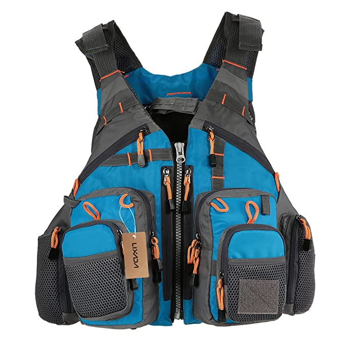81e3d85b8f218 Amazon.com : Lixada Fly Fishing Vest, Fishing Safety Life Jacket Breathable  Polyester Mesh Design Fishing Vest for Swimming Sailing Boating Kayak ...