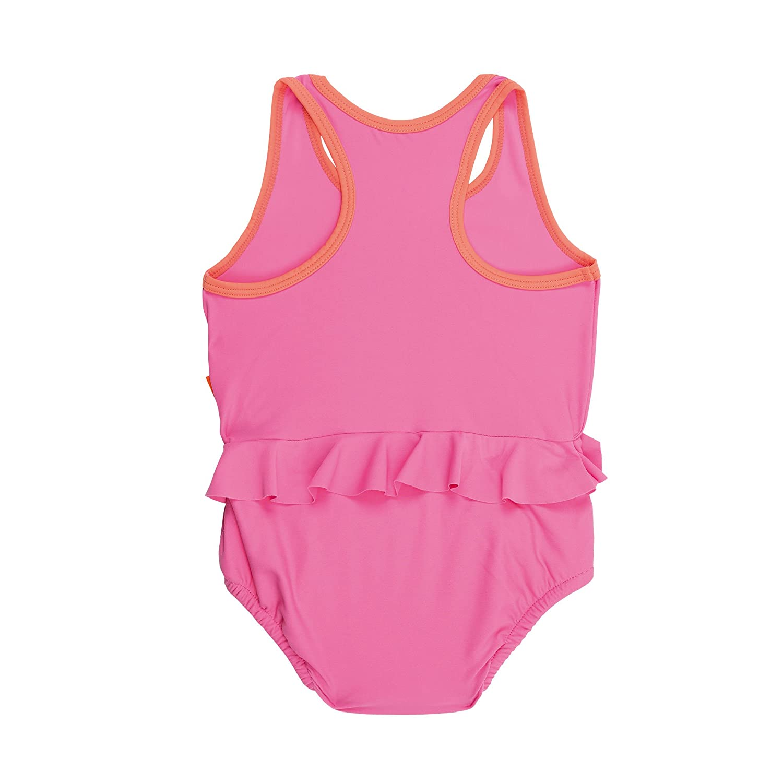 L/ÄSSIG Baby Kinder Badeanzug Bademode Schwimmbekleidung Schwimmanzug integrierte Schwimmwindel waschbar einteilig M/ädchen UV-Schutz 50+//Splash und Fun Tanksuit 6 Monate rosa