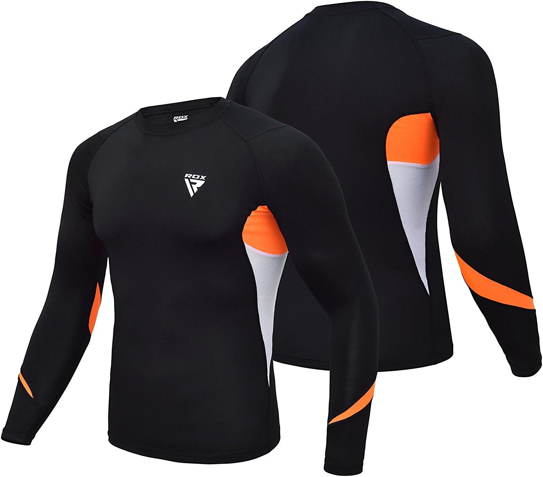 RDX MMA Compression Base Layer Rash Guard Thermal Sauna Suit Shirt Top Sweatshirts