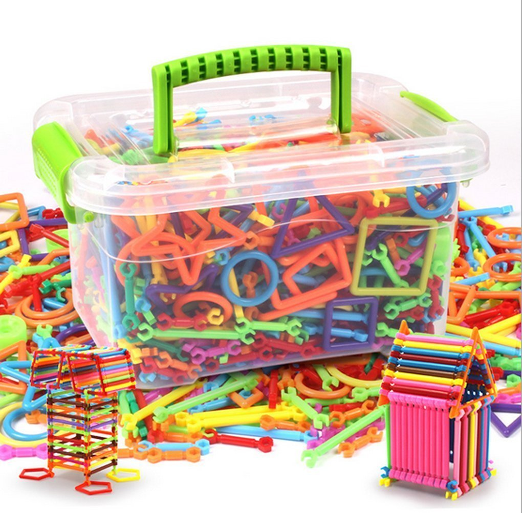 YLucky Kids Toddlers Intelligence Educational Toys Construction Engineering Building Blocks Toys DIY Interlocking Magic Sticks Educational Stacking Toys for Children Over 3 Years Old