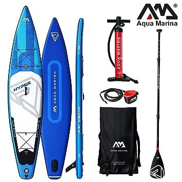 Aqua Marina Hyper Sup Modelo 2019 - Tabla de Paddle Surf (381 x 81 x 15 cm): Amazon.es: Deportes y aire libre