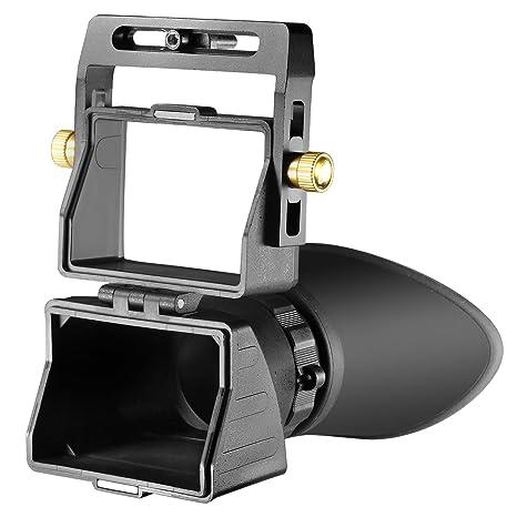 e9e4f2a5da Neewer Mirino Universale per Fotocamera con Ingrandimento 2,5X per Schermi  LCD Display 3 Pollici