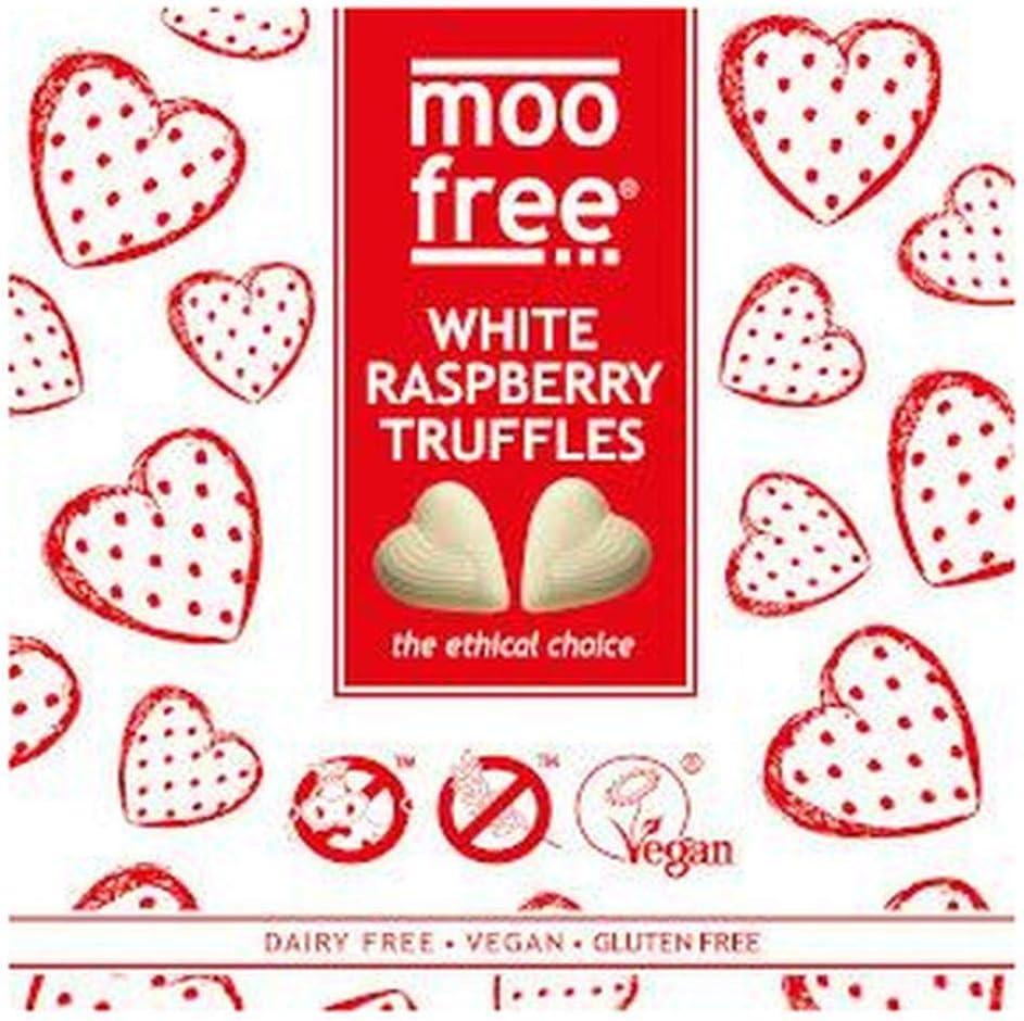 Moo Free White Raspberry Truffles – 108g