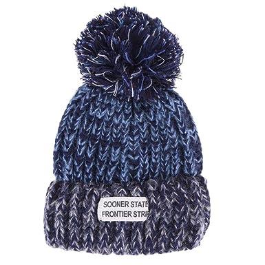 La Cabina Chapeau Mère et Bébé Bonnet Crochet Casquette Parent-enfant  Chapeau Pompon Tricot Multicolore e55324c27b0