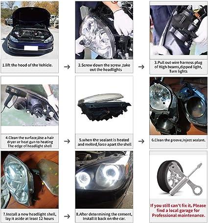 Andifany Auto Scheinwerfer Objektiv Glas Lampenschirm Nebel Scheinwerfer Abdeckung Scheinwerfer Abdeckung F/ür Mercedes E Klass W211 2002-2008 E320 E350 E280 E300 E5