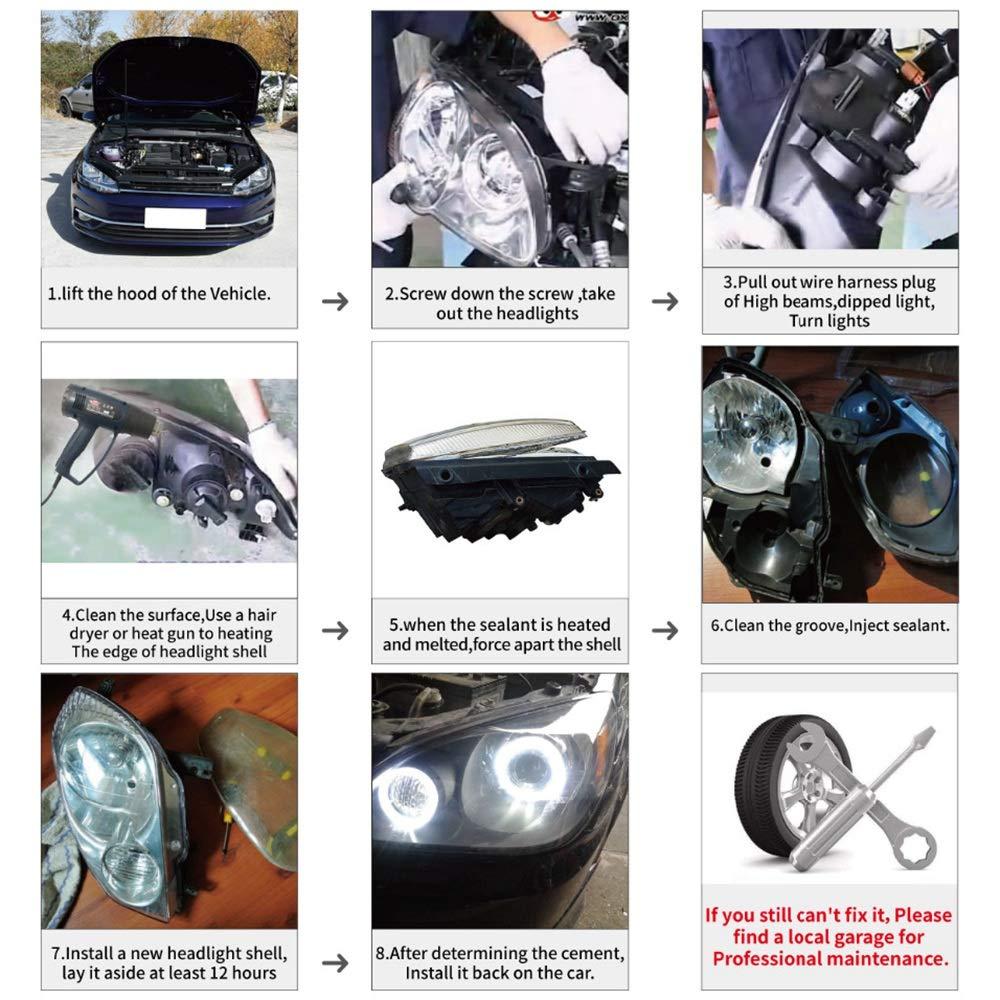 Summerwindy Auto Scheinwerfer Objektiv Glas Lampenschirm Nebel Scheinwerfer Abdeckung Scheinwerfer Abdeckung F/ür Mercedes E Klass W211 2002-2008 E320 E350 E280 E300 E5