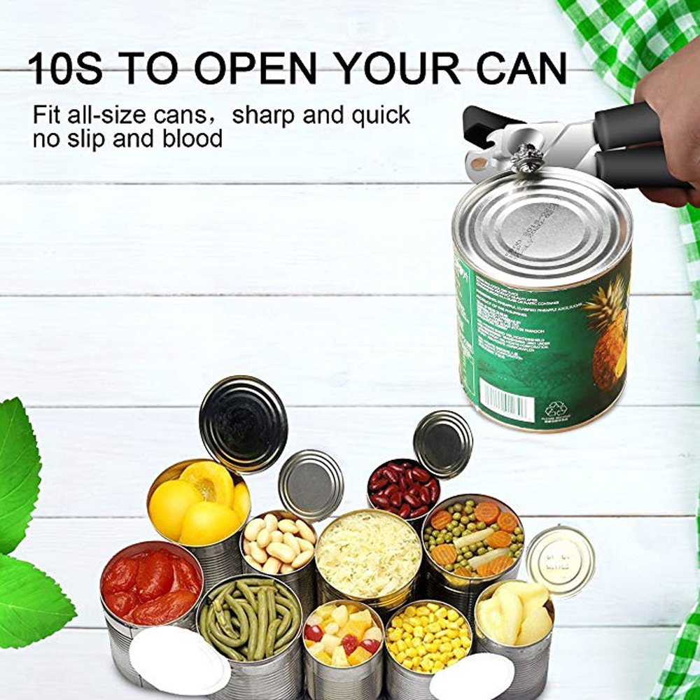 Can Opener, Manual Can Opener Smooth Edge with Sharp Stainless Steel Comfortable Ergonomic Handle by Muoam (Image #6)