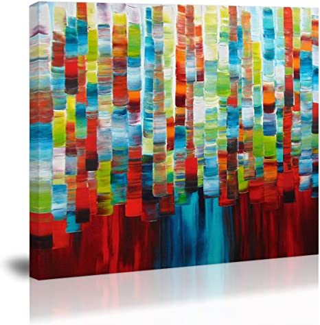 Home Decor Textured Abstract Art Colorful Wall Art Prints Contemporary Art Posters /& Canvas Large Modern Minimalist Acrylic