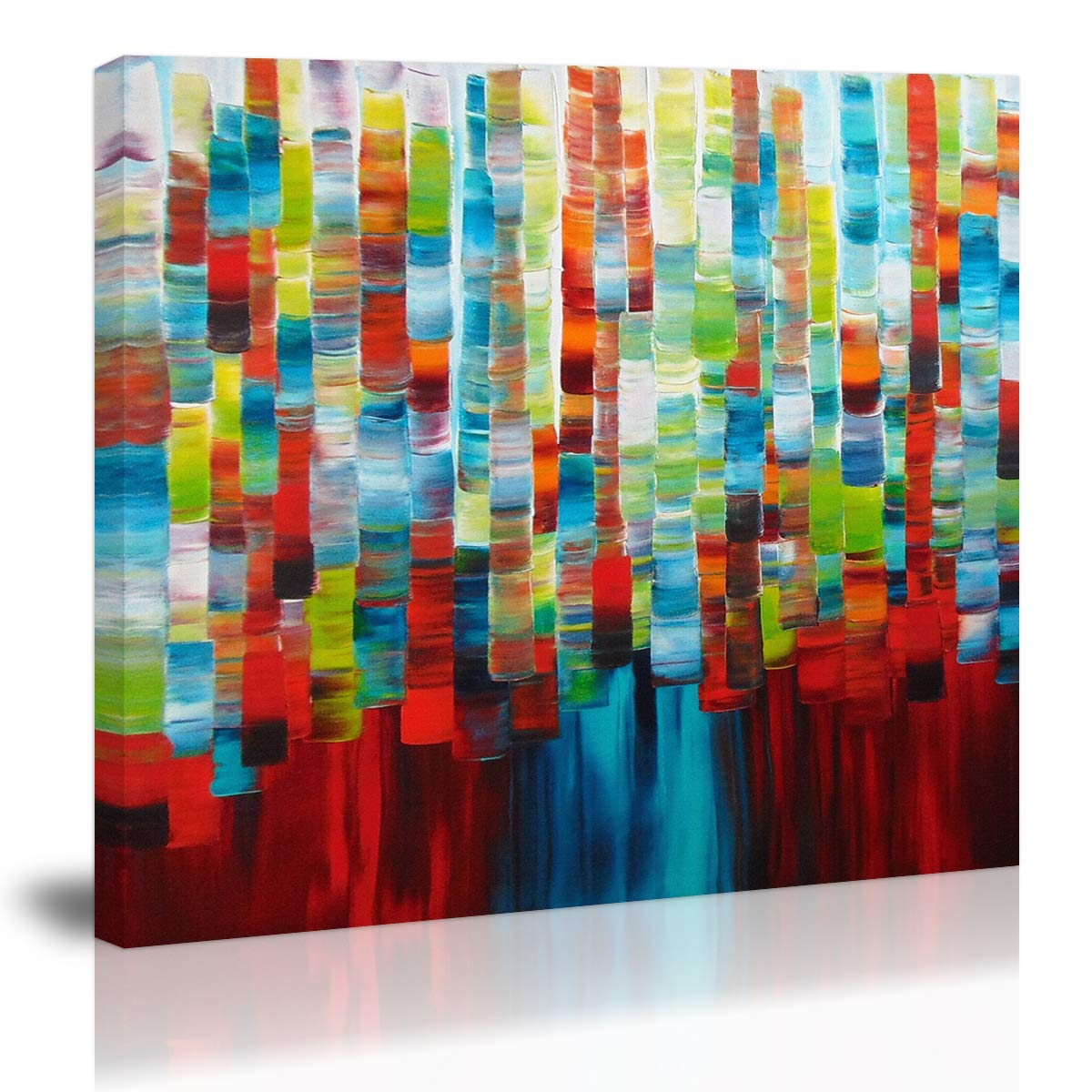 Colorful Modern Abstract Wall Art Decor Canvas Painting Kitchen Prints Pictures for Home Living Dining Room