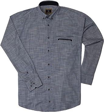 Lavecchia LV-4040 - Camisa para hombre, color azul y gris ...