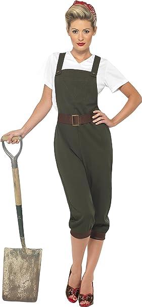 Smiffys 39491S - Disfraz de la segunda guerra mundial para mujer ...