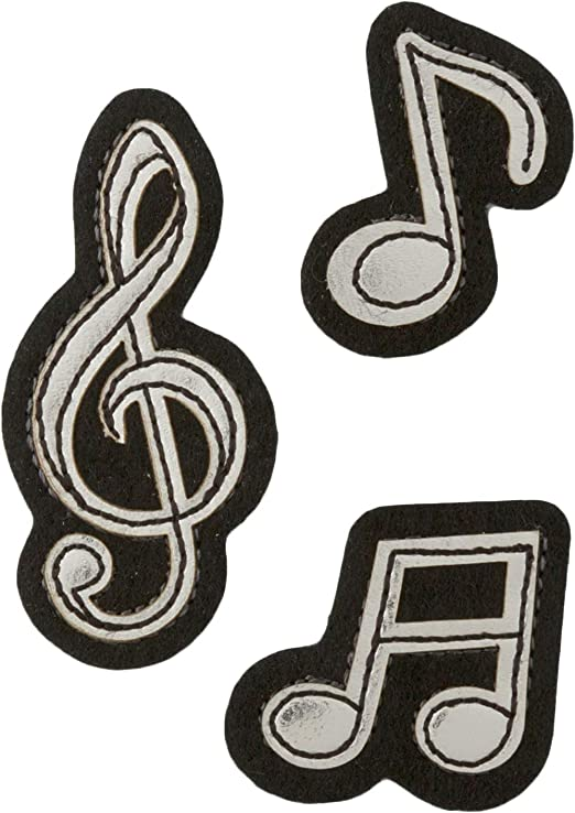 Iron on Pink Sequin G Clef Applique Patch Musical Treble Note