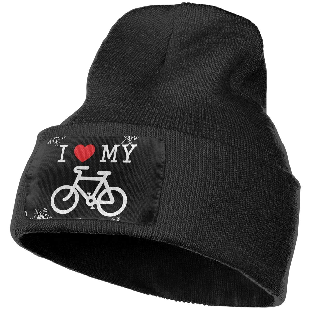 I Love My Bike Beanie Cap Hat Men /& Women Knit Hats Stretchy /& Soft Beanie