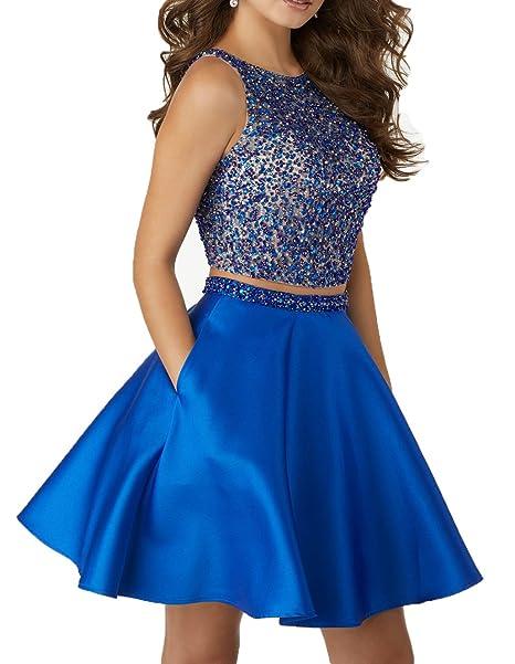 Little Star Satin Dress Short Two Piece For
