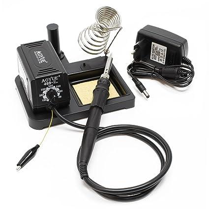 AOYUE 469 estación soldadura compacta cautín elementos calefactores cerámicos PTC 60W lápiz soldar