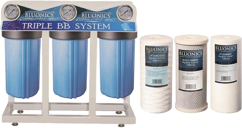Whole House filtro de agua para pozos de 3 etapas, purificador de ...