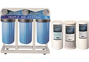 Bluonics Whole House Water Filter for City & Well Water 3 Stage Home Water Filtration System with 4.5