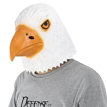 Cusfull Águila Águila Látex Caucho Máscara de Cabeza Animal Halloween Animal Traje Máscara de fiesta Máscara