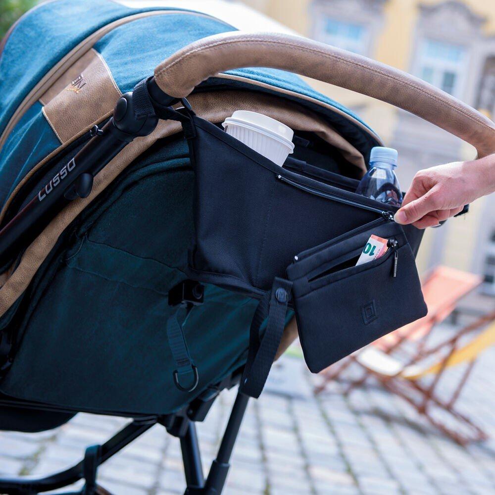 Kinderwagen Tasche Baby Buggy Diaper Universal Multifunktions Aufbewahrungstasche Rei/ßverschluss Kinderwagen Zubeh/ör wasserdicht Verdicken Rosa Lefu Pram Organizer
