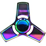 Hand Spinner Stress Relief Toy, Colourful Aluminum Alloy Hand Spinner EDC Fidget Toy Stress Reducer Made Bearing Focus Anxiety Relief Toys for Killing Time