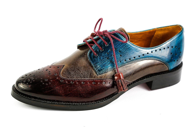 Melvin & Hamilton MH15-1072 - Zapatos de Cordones de Piel Lisa para Mujer Rojo Rojo 37 EU