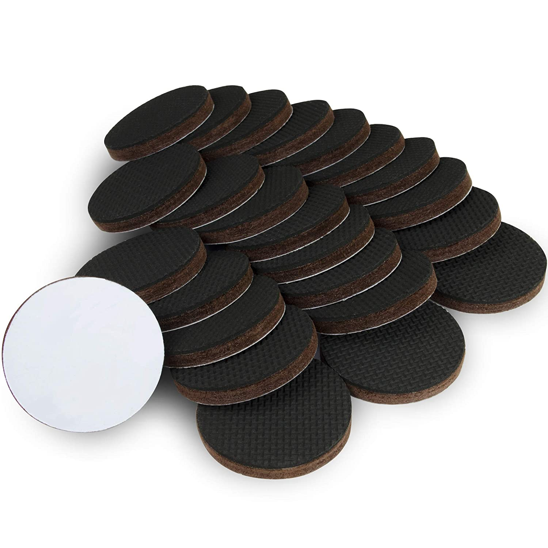 Protectores de piso x-protector - 24 pcs 50mm almohadillas antideslizantes - Patas de goma premium - La almohadilla antideslizante de alta calidad - ...