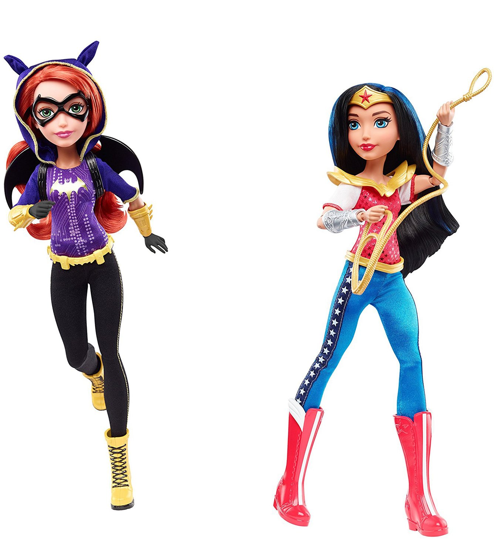 Bundle of 2 Mattel DC Super Hero Girls Wonder Woman /& Batgirl 12 Action Dolls