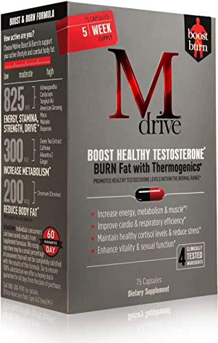 Mdrive Boost and Burn Testosterone Booster and Fat Burner