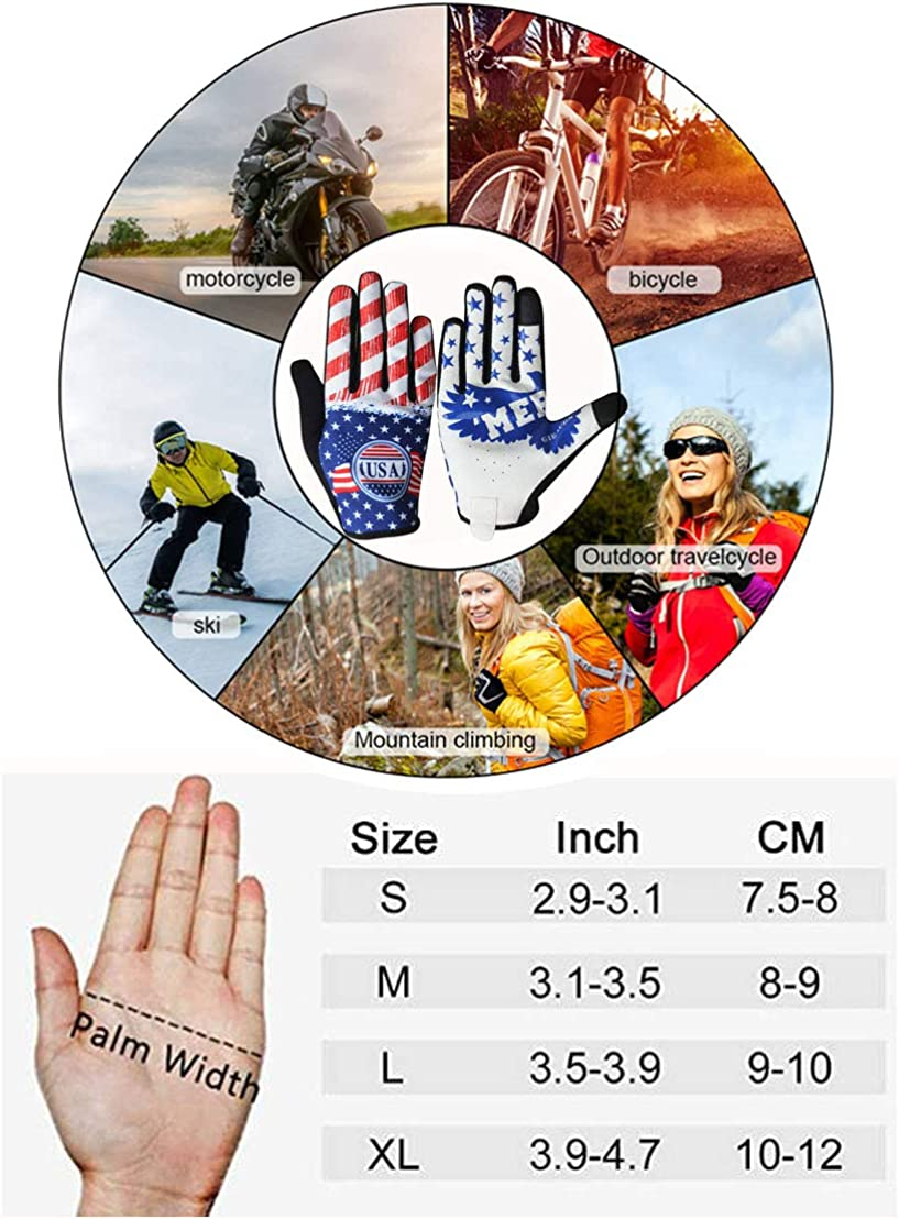 Walking for Women and Men Great for Running Football Hunting Rugby GIEADUN Cycling Gloves Mountain Bike Gloves Touch Screen Outdoor Sports Gloves