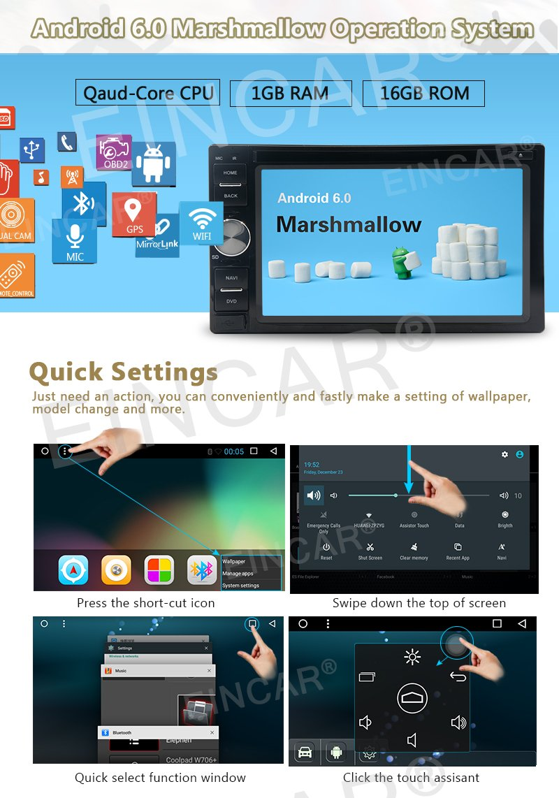 """Amazon.com: Android 4.2 Double Din 6.2""""- inch Capacitive Touch Screen Car  Stereo DVD Player Radio In Dash GPS Navi Navigation + Free Backup Reversing  ..."""