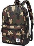 School Backpack,Vaschy Unisex Classic Lightweight Water-Resistant Campus School Rucksack Travel Backpack Black Fits 18-Inch Laptop Camo