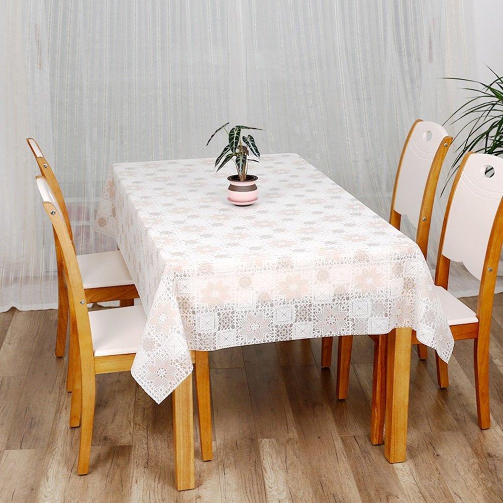 JIANFEI Mantel Rectangular Impermeable a Prueba de Aceite Económico CLORURO DE POLIVINILO Elegante, 3 Colores, 8 tamaños Opcionales (Color : A, Tamaño : 120  170cm)