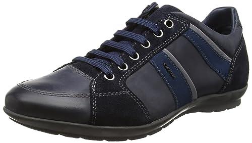 Geox Uomo Symbol a, Zapatillas para Hombre, Azul (Navyc4002), 39 EU