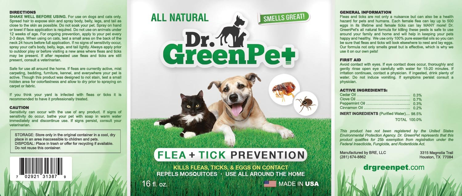 amazon com dr greenpet all natural flea and tick prevention and