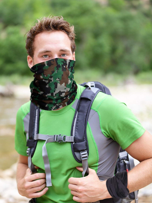 3 Pieces Mens Neck Gaiter Summer Winter Sunscreen Neck Gaiter Lightweight Face Mask for Outdoor Activities Black